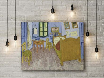 Vincent van Gogh: Bedroom at Arles. Fine Art Canvas.